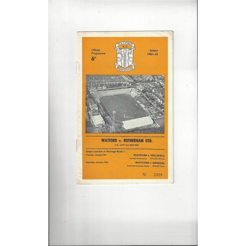 Rotherham United Away Football Programmes