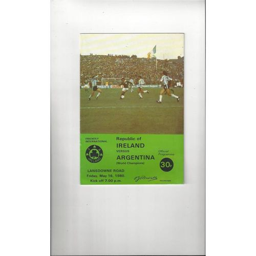 Republic of Ireland Home Football Programmes