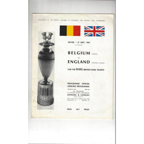 1967 Belgium League v English League Football Programme