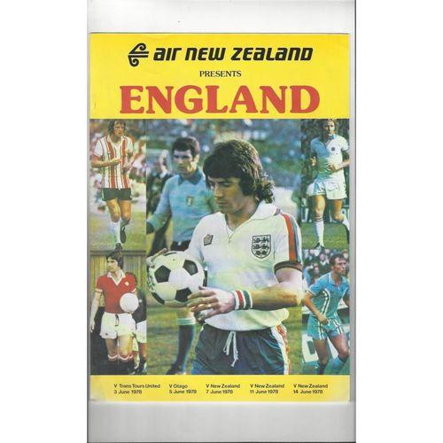 1978 New Zealnd v England Football Programme