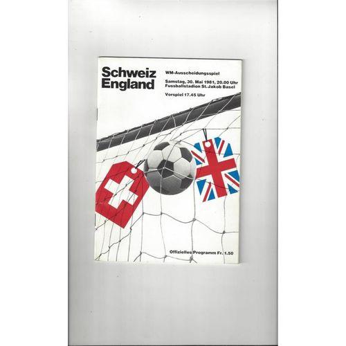 1981 Switzerland v England Football Programme