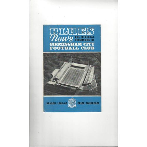 1962/63 Birmingham v Bury League Cup Semi Final