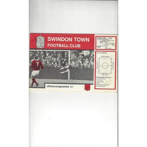 1968/69 Swindon v Burnley League Cup Semi Final Football Programme