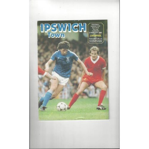 1981/82 Ipswich Town v Liverpool League Cup Semi Final Programme