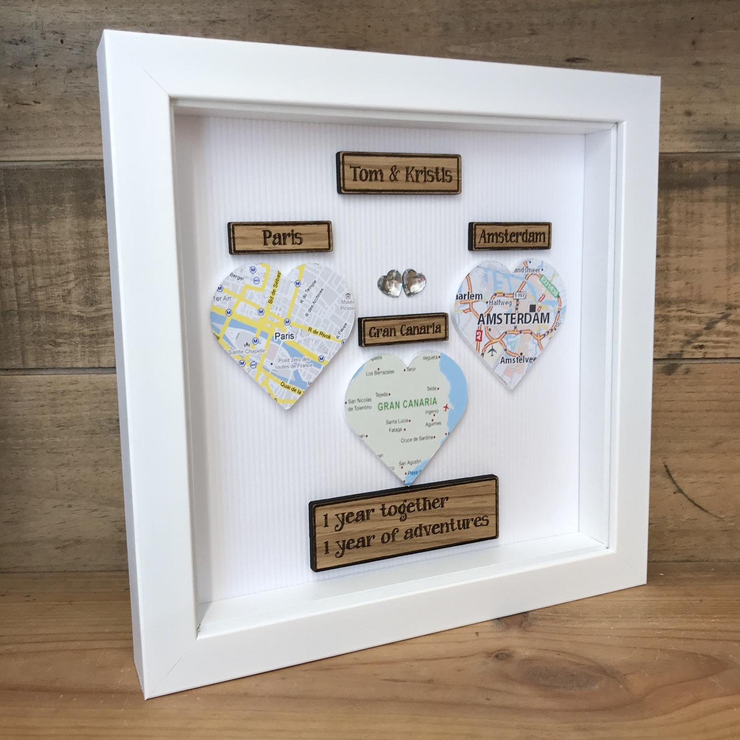 Framed maps of special places | Crafty Monkey | Personalised Golden ...