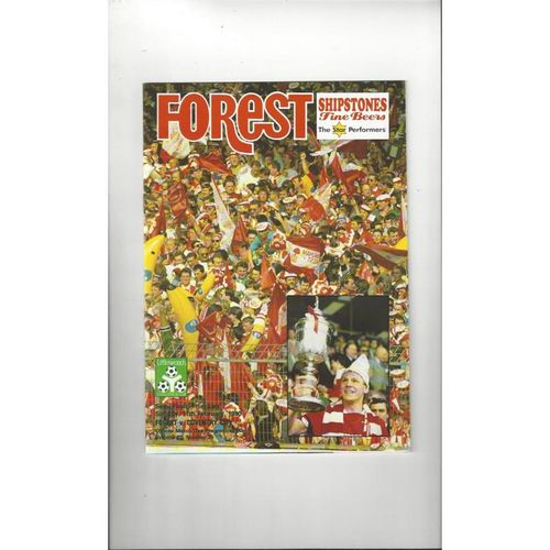 1989/90 Nottingham Forest v Coventry City League Cup Semi Final Programme