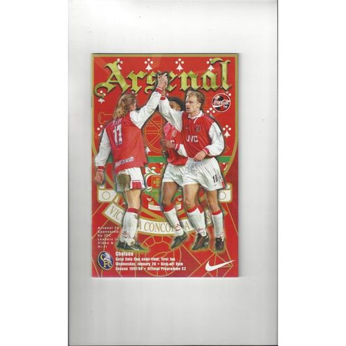 1997/98 Arsenal v Chelsea League Cup Semi Final Programme