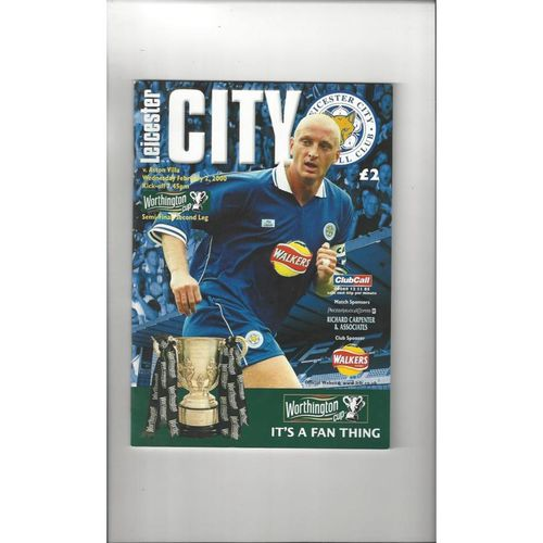 1999/00 Leicester City v Aston Villa League Cup Semi Final Football Programme