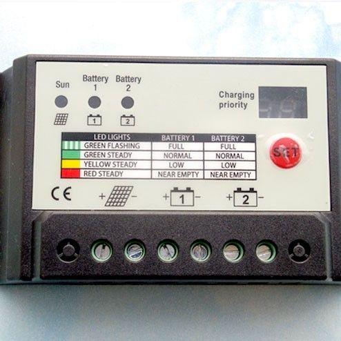 10A Dual Battery Solar Controller