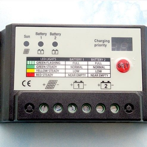 20A Dual Battery Solar Charge Controller