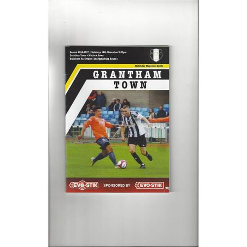 Grantham Town v Matlock Town FA Trophy Football Programme 2016/17
