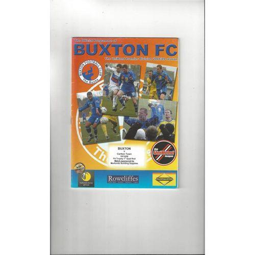 2008/09 Buxton v Carlton Town FA Trophy Football Programme