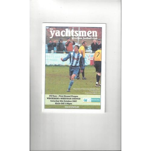 Non-League FA Vase Football Programmes