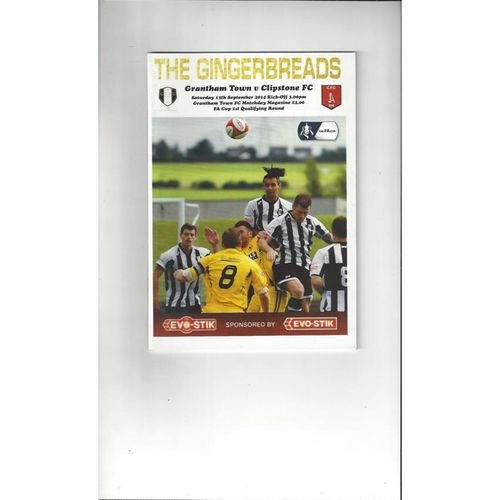 2014/15 Grantham Town v Clipstone FA Cup Football Programme