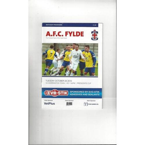 AFC Fylde Home Football Programmes