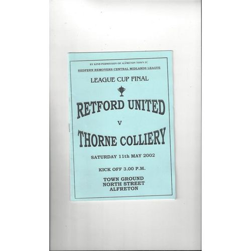 Retford United Home Football Programmes