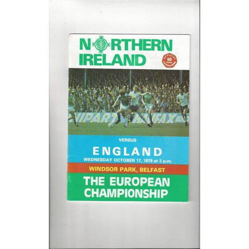 1979 Northern Ireland v England Football Programme