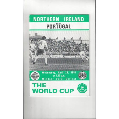 1981 Northern Ireland v Portugal Football Programme