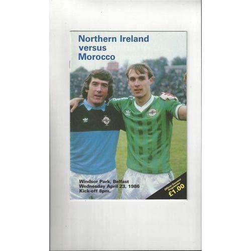 1986 Northern Ireland v Morocco Football Programme