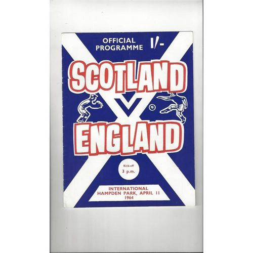 1964 Scotland v England Football Programme