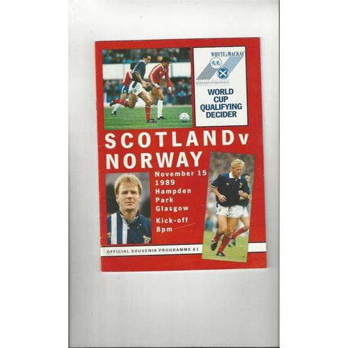 1989 Scotland v Norway Football Programme