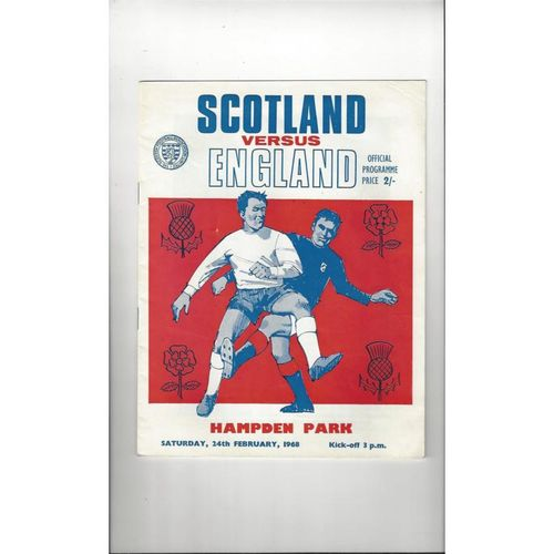 1968 Scotland v England Football Programme