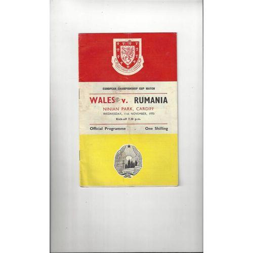 1970 Wales v Romania Football Programme @ Cardiff