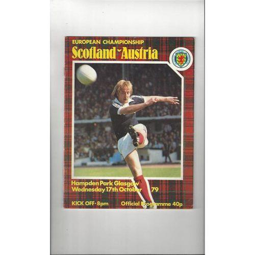 1979 Scotland v Austria Football Programme