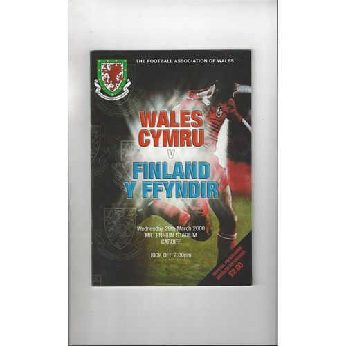 2000 Wales v Finland Football Programme @ Cardiff
