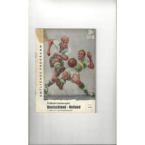 1959 Germany v Holland Football Programme