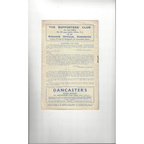 1948/49 Queens Park Rangers v Brentford Football Programme