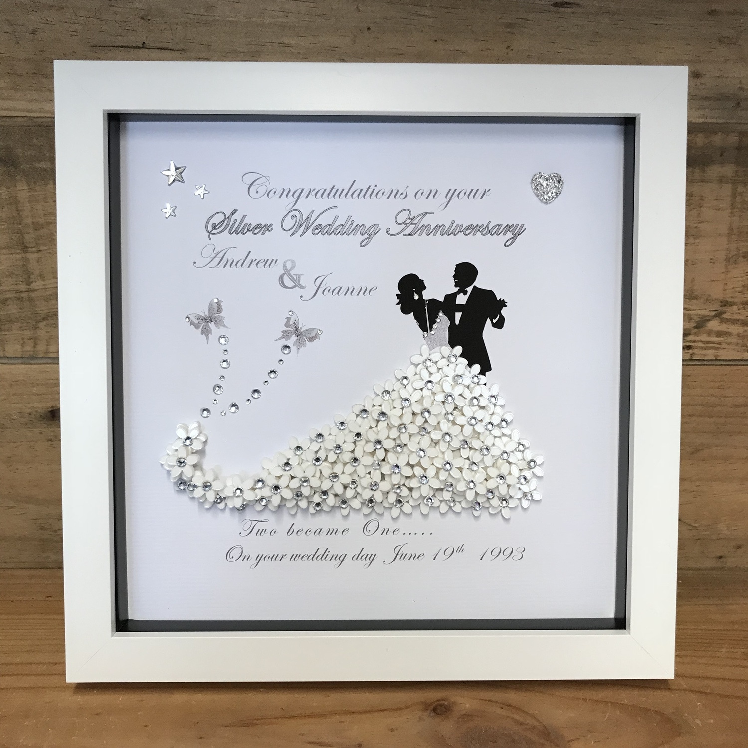 Bride and Groom 3D Wedding frame | Crafty Monkey | Personalised ...