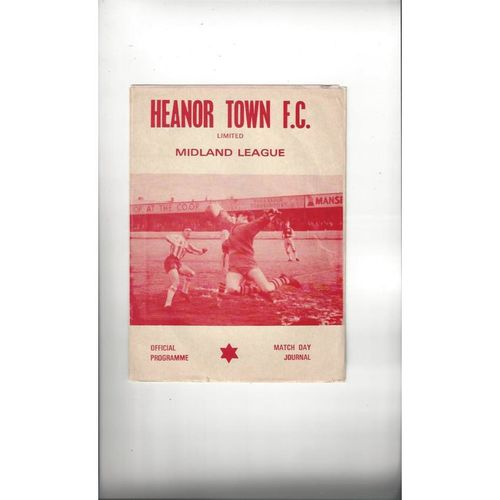 Heanor Town Home Football Programmes
