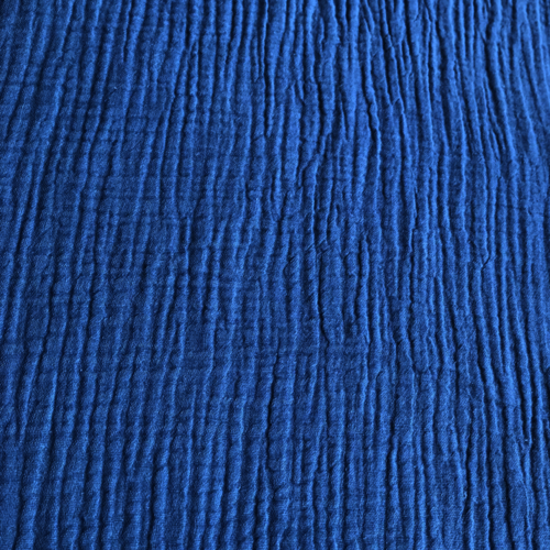 French Navy Double Cotton Gauze