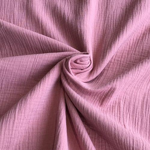 Pink Double Cotton Gauze 55cm Remnant
