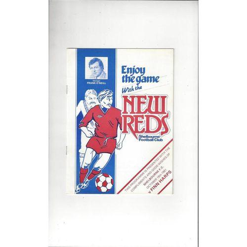 1981/82 Shelbourne v Finn Harps Football Programme