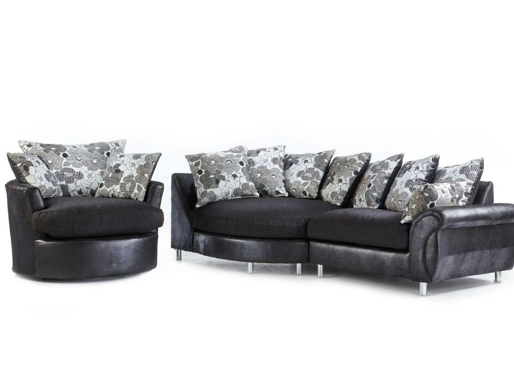Elise corner sofa +Swivel chair