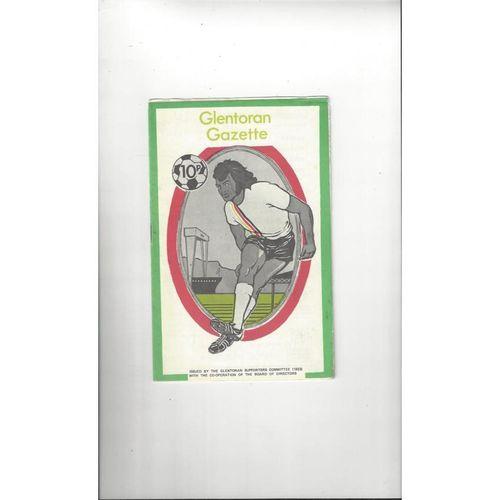 Glentoran v Distillery Football Programme 1975/76