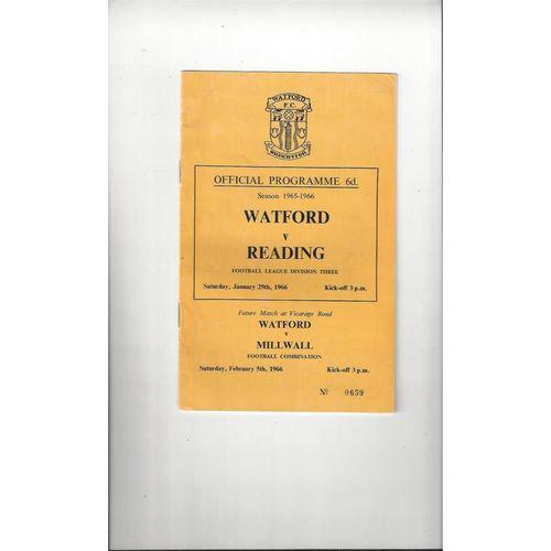 1965/66 Watford v Reading Football Programme