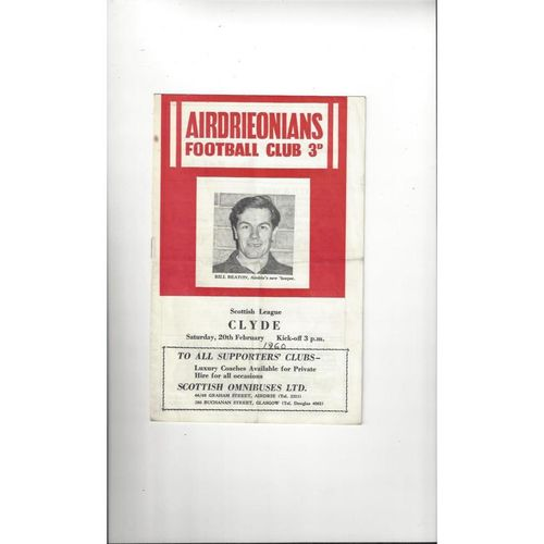 Airdrie Football Programmes