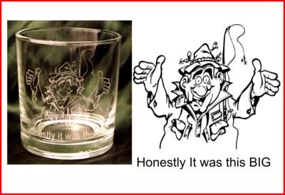 Engraved Whimsical Whisky Glasses