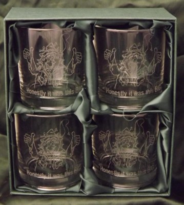 Engraved Whimsical Whisky Glasses | TMB DESIGNS