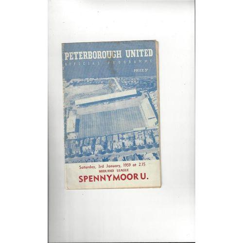 1958/59 Peterborough United v Spennymoor United Football Programme
