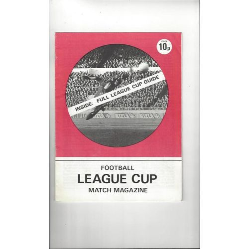 1970's Football League Cup Match Magazine