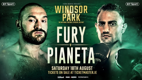 Fury faces step up in class against Pianeta
