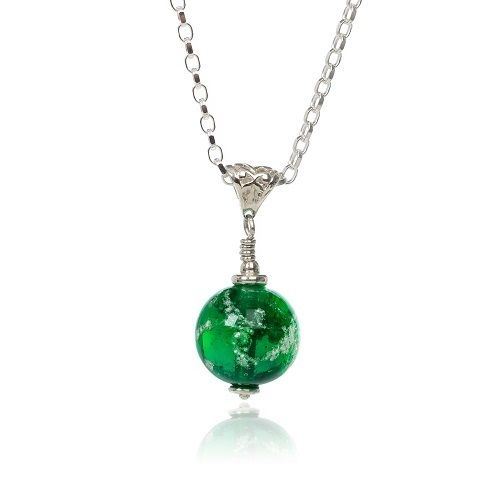 Green Cremation Glass Pendant