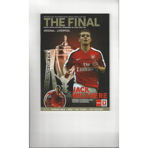 2009 Arsenal v Liverpool FA Youth Cup Final Football Programme