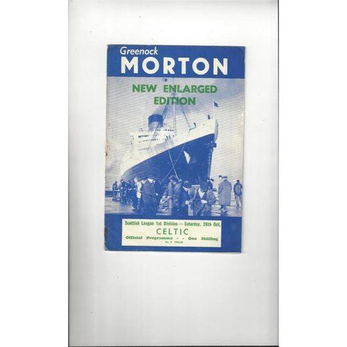 Morton Football Programmes