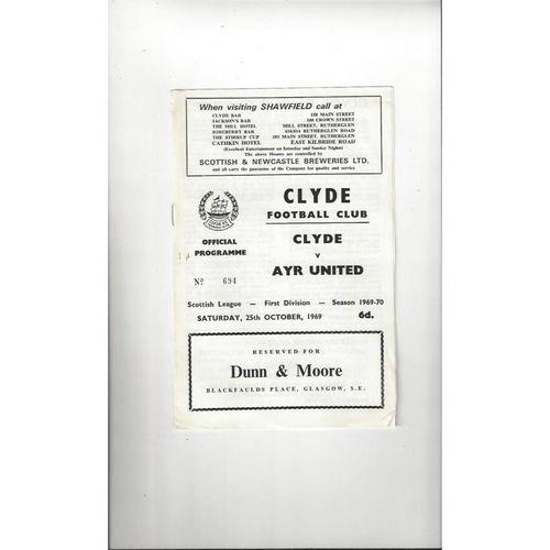 Clyde Football Programmes