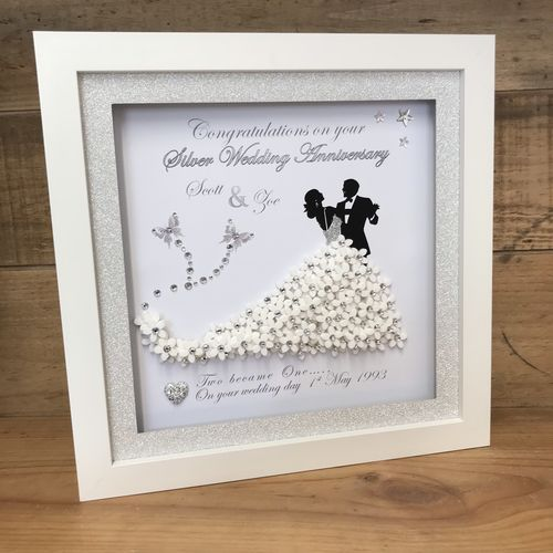 Bride and Groom 3D frame